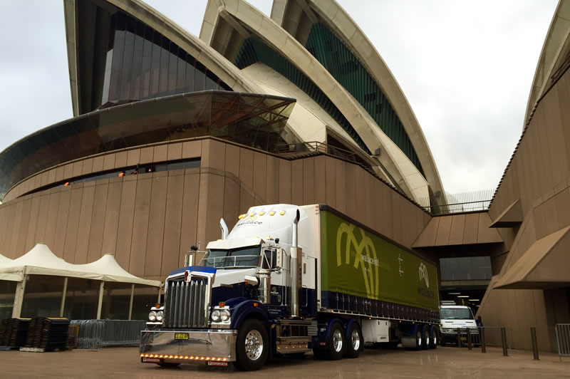 wallace international truck at the sydney opera house
